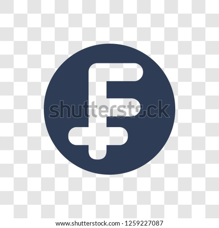Swiss franc icon. Trendy Swiss franc logo concept on transparent background from e-commerce and payment collection