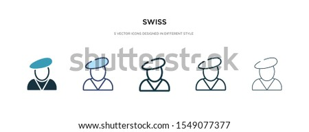 swiss icon in different style vector illustration. two colored and black swiss vector icons designed in filled, outline, line and stroke style can be used for web, mobile, ui