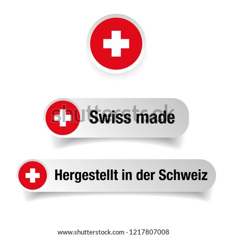 Swiss made label sign