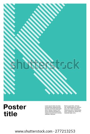 swiss poster layout with letter