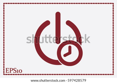 Switch energy timer icon vector.