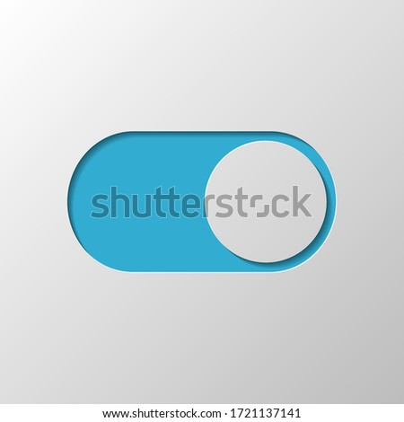 switch on, app slider. Paper design. Cutted symbol with shadow Stock photo ©