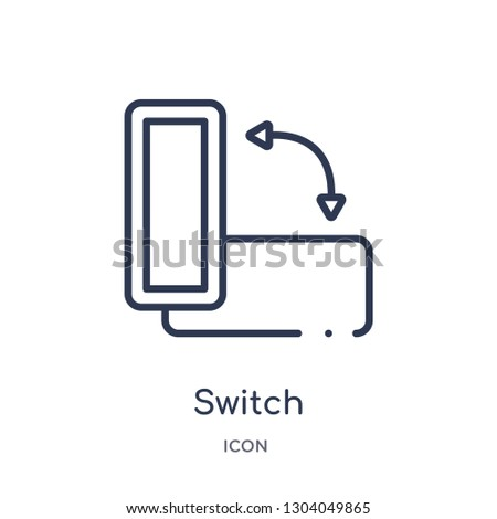 switch orientation button icon from user interface outline collection. Thin line switch orientation button icon isolated on white background.