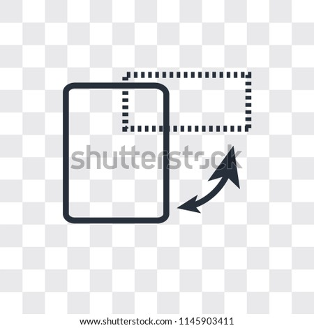 Switch orientation button vector icon isolated on transparent background, Switch orientation button logo concept