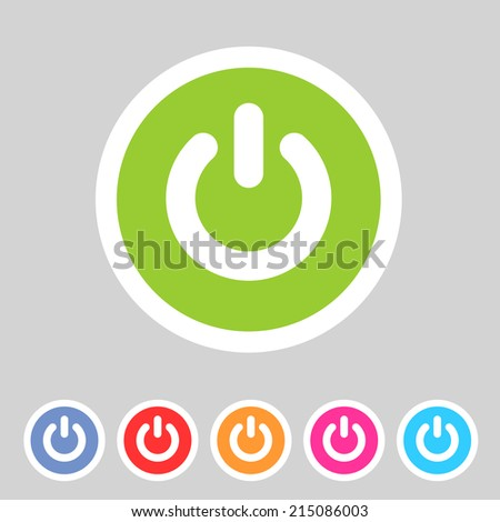 switch power flat icon badge