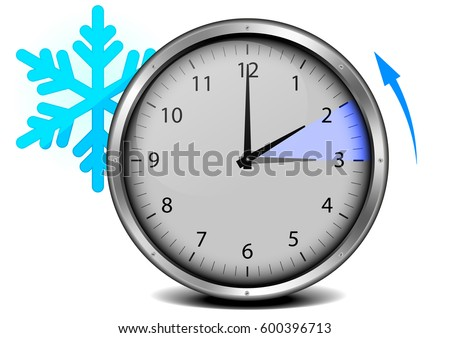 switch to winter time, concept for daylight saving, eps10 vector illustration