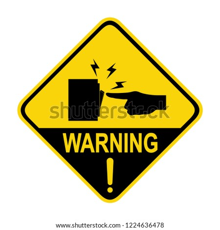 Switch warning sign. Symbol, vector