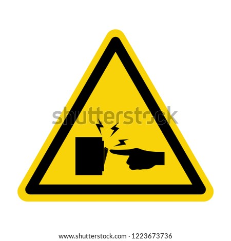 Switch warning sign. Symbol, vector,illustration