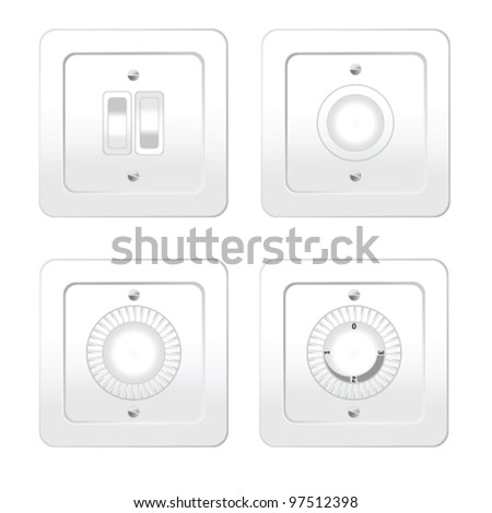 switches in different variants art vector illustration - stock vector