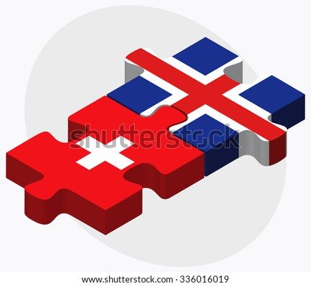 switzerland and iceland flags