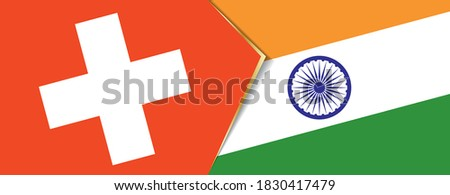 switzerland and india flags