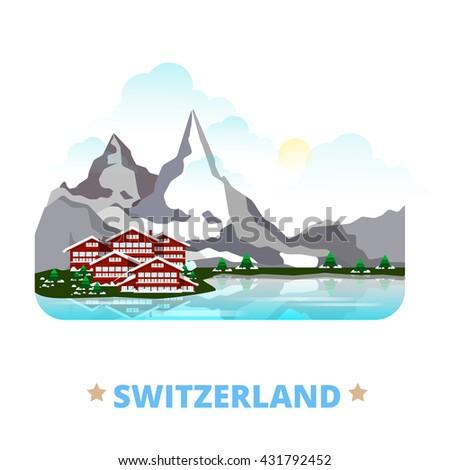 switzerland country magnet