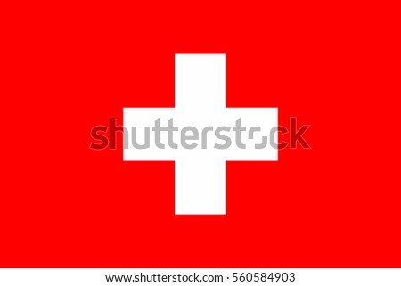 Switzerland Flag. Official colors and proportion correctly. National Flag of Switzerland. Switzerland Flag vector illustration. Switzerland Flag vector background.