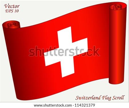 switzerland flag scroll