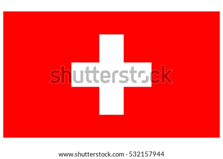 Switzerland flag. Swiss flag. Switzerland flag, official colors. National Switzerland flag. Flat vector illustration. EPS10.