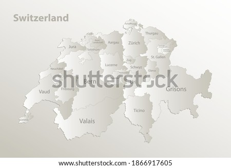 switzerland map  administrative