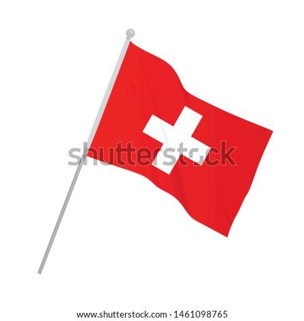 Switzerland national flag. vector illustration