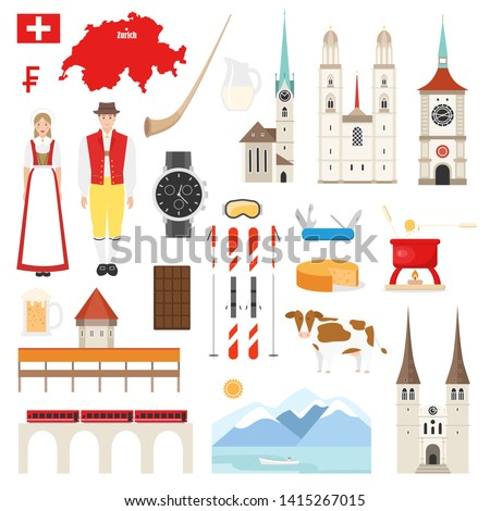 switzerland symbols collection