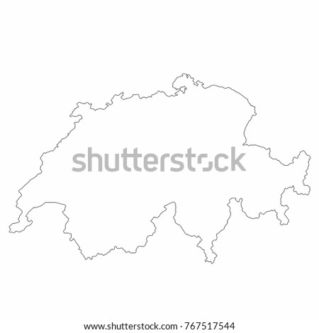 Switzerland World Map Country Outline In Graphic Design Concept Ez