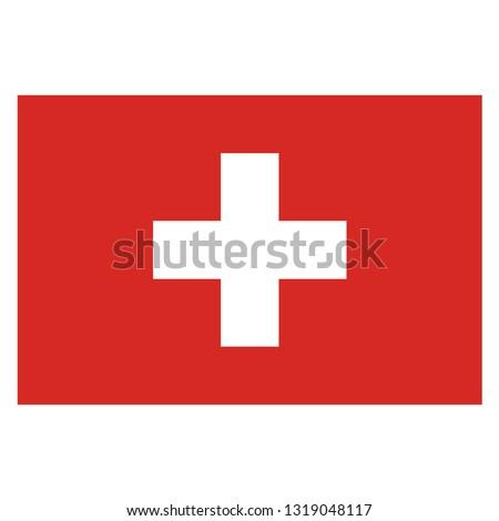 Swizerland national flag vector. Swizerland isolated symbol country on white background.