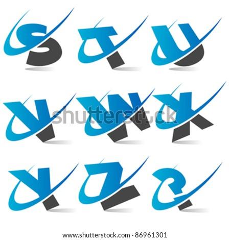 Swoosh Logo Alphabet Set 3