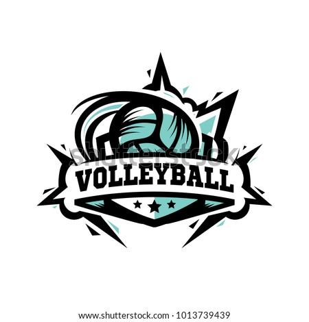 Swoosh Volleyball Logo