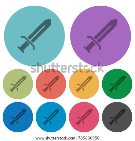 sword darker flat icons on