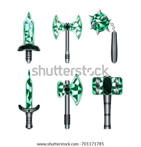 sword  flail  axe  hammer