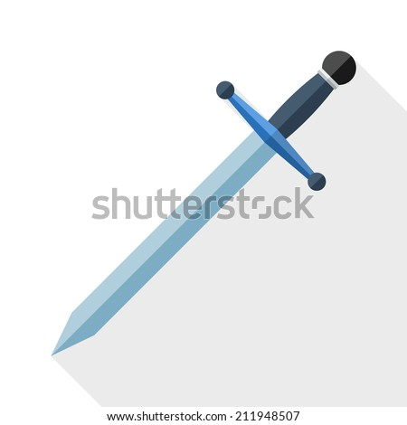 sword icon with long shadow on