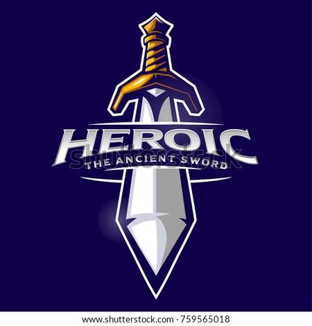 sword mascot logo