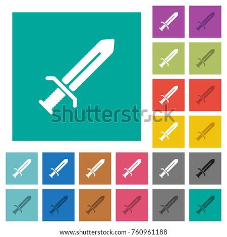 sword multi colored flat icons