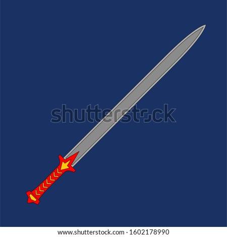 sword set in flat vector style