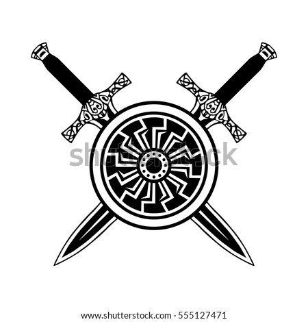 sword shield tattoo  viking set