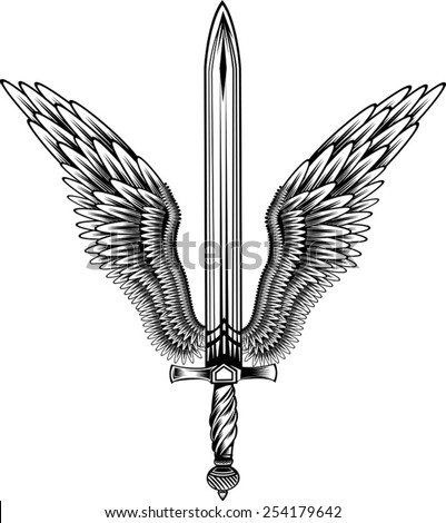 Sword With Wings Logo Sword With Wings