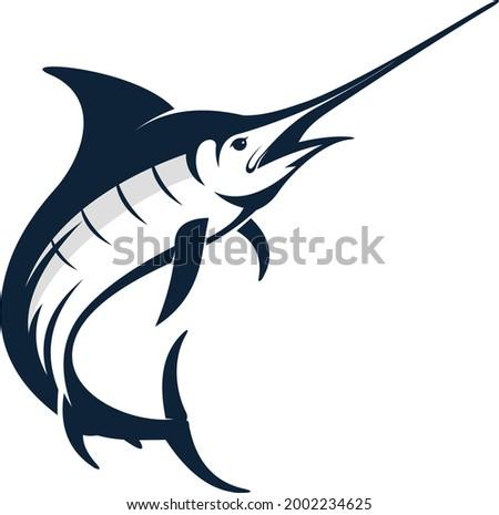 swordfish marlin vector  for