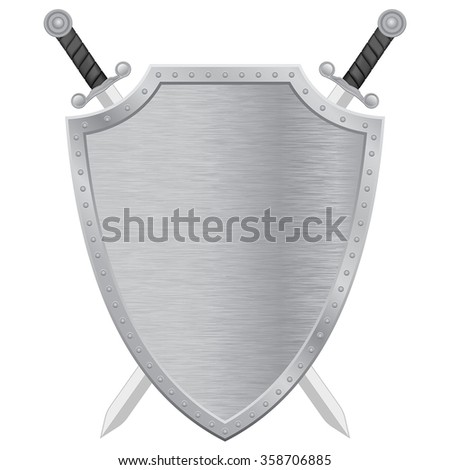 swords and shield metal
