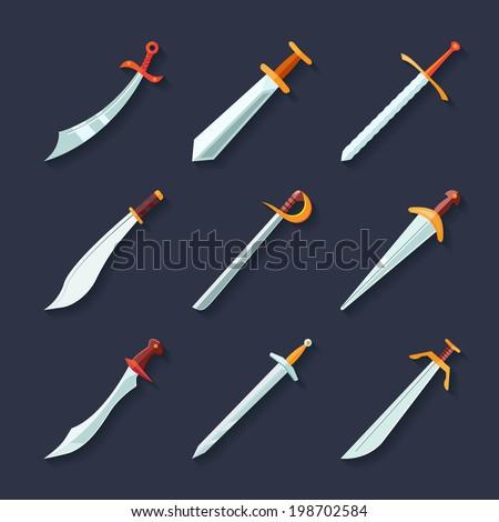 swords knives daggers sharp