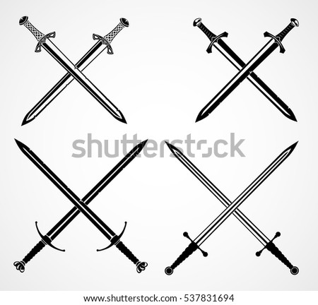 swords set  european straight