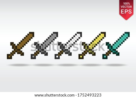 swords set pixel art currency