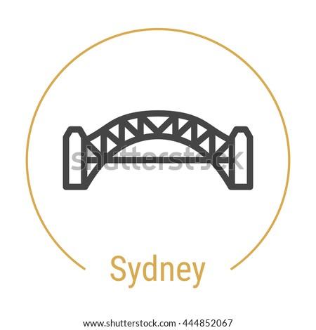 sydney  australia  outline icon