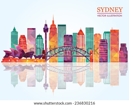 sydney city skyline detailed