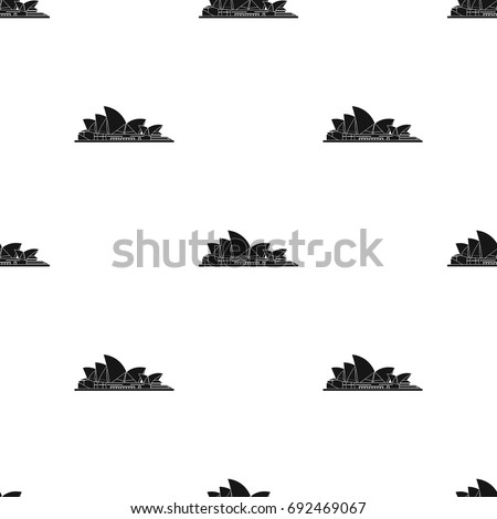Sydney Opera House icon in black style isolated on white background. Countries symbol stock vector illustration.