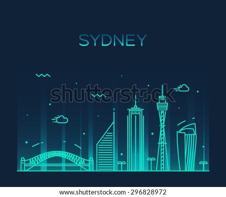 sydney skyline  detailed