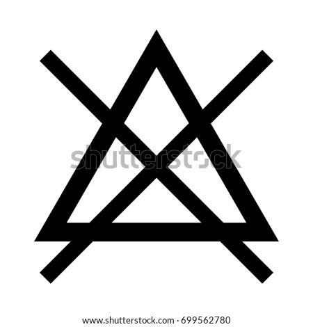 symbol do not bleach icon