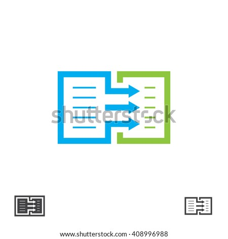 Symbol duplicate of the document. Vector icon copying of the text.