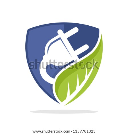 symbol illustration icon with the concept of protecting alternative electrical energy resources