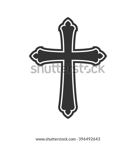 Symbol of a church cross. Christianity religion symbol. cross symbol, cross eps10, cross sign, vector cross set, cross picture, cross illustration, isolated cross, image of cross, silhouette of cross