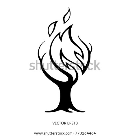 symbol of a forest fire for