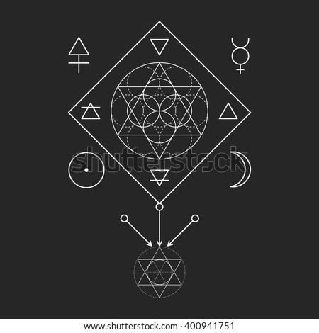 symbol of alchemy and sacred
