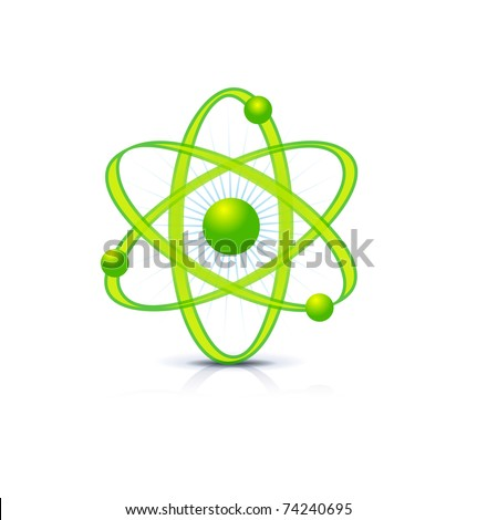 symbol of atomic technology isolated on white
